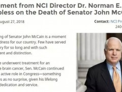 新闻|美国参议院麦凯恩患恶性脑瘤离世,这些新疗法大家需要知道