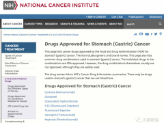 2020年胃癌治疗药物,胃癌化疗药物,胃癌靶向药物,胃癌(PD-1)免疫治疗药物有哪些盘点