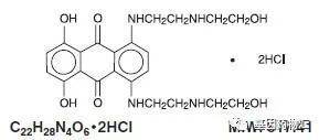 盐酸米托蒽醌结构图