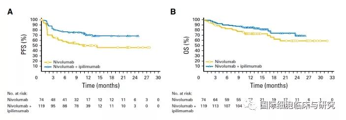 纳武利尤单抗+伊匹木单抗双免疫治疗和单药治疗对比