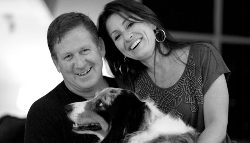 骨脊索瘤患者Tracy Clifford和他的妻子