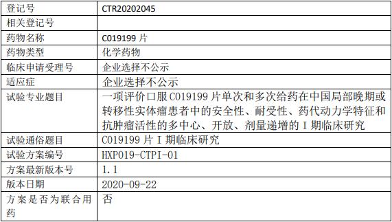 C019199临床试验