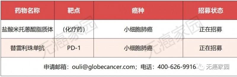 小细胞肺癌临床试验