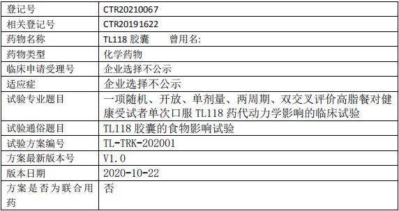 TL118临床试验