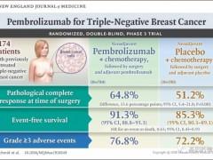 速递|三阴乳腺癌新辅助治疗,派姆单抗获批用于三阴乳腺癌新辅助疗法和三阴乳腺癌辅助疗法
