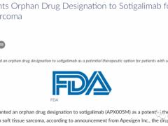 速递|软组织肉瘤免疫治疗新药APX005M(Sotigalimab)获美国FDA授予孤儿药称号
